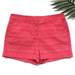 LOFT coral stripe shorts